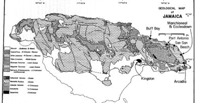 Jamaican geology Map