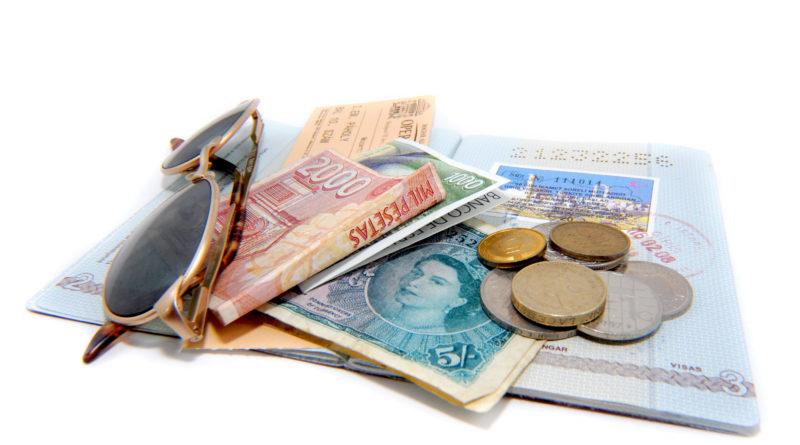 travel document passport and cash
